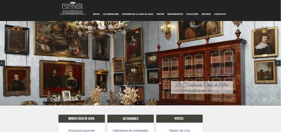 diseño y desarrollo Fundación Casa de Alba