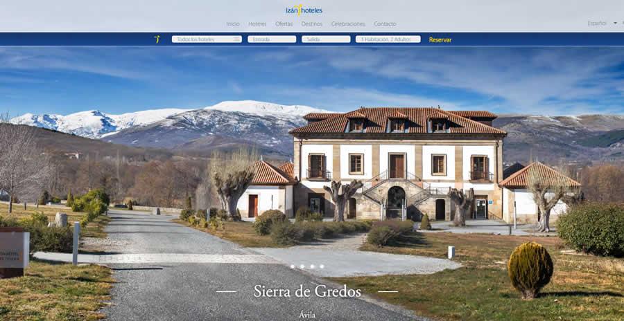 diseño y desarrollo web corporativa grupo hoteles izanhoteles